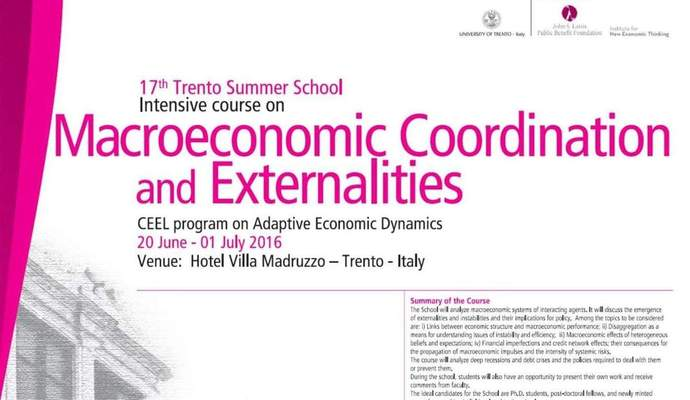 "17ο Διεθνές Θερινό Σχολείο ""Intensive Course on Macroeconomic Coordination and Externalities"""